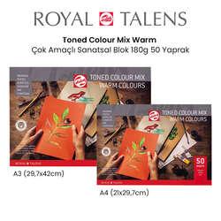 Talens - Talens Toned Colour Mix Warm Çok Amaçlı Sanatsal Blok 180g 50 Yaprak