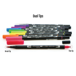 Tombow - Tombow Dual Brush Pen 10lu Bright Palette (1)