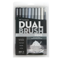Tombow - Tombow Dual Brush Pen Grayscale Palette 10lu Set 56171