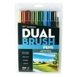 Tombow - Tombow Dual Brush Pen Landscape Palette 10lu Set 56169