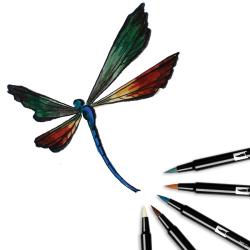 Tombow - Tombow Dual Brush Pen Landscape Palette 6lı Set 56164 (1)