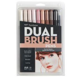 Tombow - Tombow Dual Brush Pen Portrait Palette 10lu Set