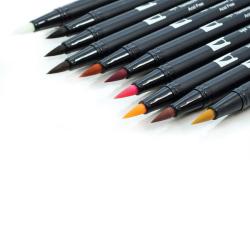 Tombow - Tombow Dual Brush Pen Portrait Palette 10lu Set (1)