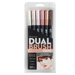 Tombow - Tombow Dual Brush Pen Portrait Palette 6lı Set