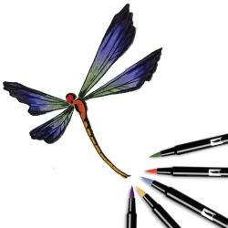 Tombow - Tombow Dual Brush Pen Secondary Palette 6lı Set 56163 (1)