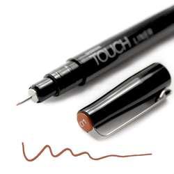 Touch - Touch Liner Renkli Çizim Kalemi 0,1mm Brown