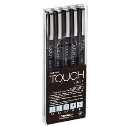 Touch - Touch Liner Teknik Çizim Kalemi 5li Set Cool Grey SH4101205