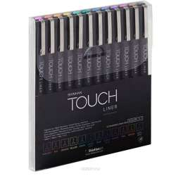 Touch - Touch Liner Teknik Çizim Kalemi 12li Set Renkli SH4301205