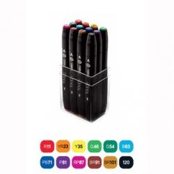 Touch - Touch Twin Marker Kalem 12li Set Ana Renkler