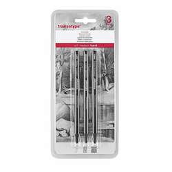 Transotype - Transotype Woodless Charcoal Pencil Füzen Kalem Seti 3lü