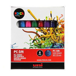 Posca - Uni Posca PC-3M (0,9-1,3mm) 8li Set