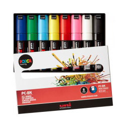 Posca - Uni Posca PC-8K (8mm) 8li Set