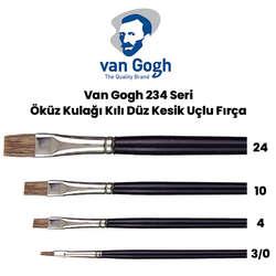 Van Gogh - Van Gogh 234 Seri Öküz Kulağı Kılı Düz Kesik Uçlu Fırça
