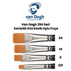 Van Gogh - Van Gogh 294 Seri Sentetik Düz Kesik Uçlu Fırça