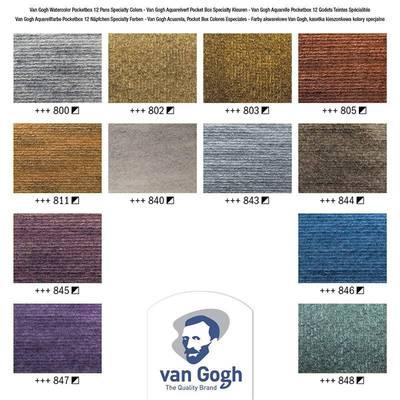 Van Gogh Sulu Boya Seti 12 Metalik Renkler Defter Hediyeli