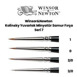 Winsor & Newton - Winsor&Newton Kolinsky Yuvarlak Minyatür Samur Fırça Seri 7