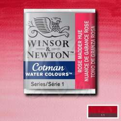 Winsor & Newton - Winsor&Newton Tablet Sulu Boya No:580 Rose Madder Hue