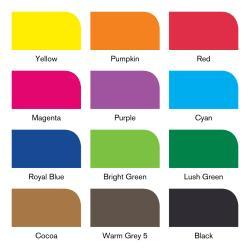 Winsor & Newton - Winsor&Newton Brush Marker 12+1 Set Vibrant Tones (1)