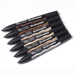 Winsor & Newton - Winsor&Newton Brush Marker 6lı Set Skin Tones (1)