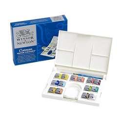 Winsor & Newton - Winsor&Newton Cotman Compact Set 14lü Yarım Tablet Sulu Boya Seti