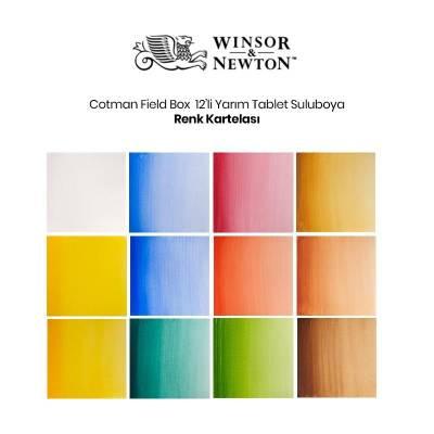 Winsor&Newton Cotman Field Box 12li Sulu Boya Seti Defter Hediye