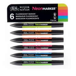 Winsor & Newton - Winsor&Newton Neonmarker 6lı Set 4827C