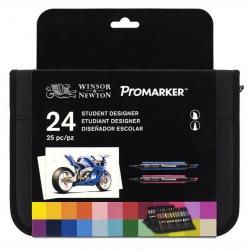 Winsor & Newton - Winsor&Newton Promarker 24lü Wallet Set