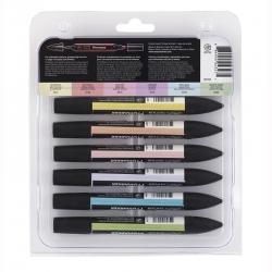 Winsor & Newton - Winsor&Newton Promarker 6lı Set Pastel Tones