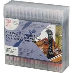 Zig - Zig Art & Graphic Twin RB+F Çift Uçlu Çizim Kalemi 80li Set TUT95