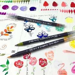 Zig - Zig Art&Graphic Twin RB+F Çift Uçlu Çizim Kalemi (1)