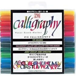 Zig - Zig Calligraphy II 2mm+3.5mm Kaligrafi Kalem Setleri 12li Set