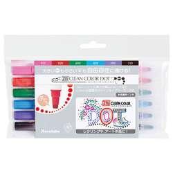 Zig - Zig Clean Color Dot Çift Uçlu Marker Kalem 6lı Set