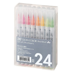 Zig - Zig Clean Color Real Brush Fırça Uçlu Marker Kalem 24lü Set
