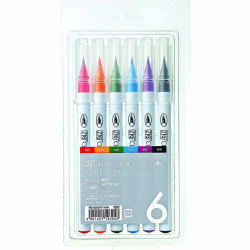 Zig - Zig Clean Color Real Brush Fırça Uçlu Marker Kalem 6lı Set