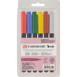 Zig - Zig Fudebiyori Brush Pen Yaldızlı 6lı