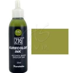 Zig - Zig Kurecolor Refill Ink Mürekkep 542 Mid Green 25ml