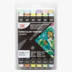 Zig - Zig Kurecolor Twin WS Marker KC3000N 12li Set 12B5 Pale Colors
