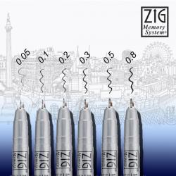 Zig - Zig Millennium Memory System Teknik Çizim Kalemi