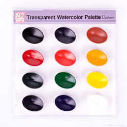 Zig - Zig Transparent Watercolor Palette 12 Renk